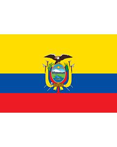 Drapeau: Équateur |  drapeau paysage | 2.4m² | 120x200cm