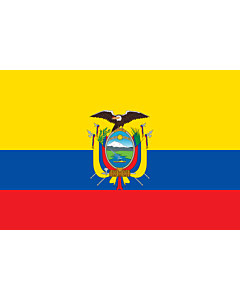 Flag: Ecuador |  landscape flag | 6.7m² | 72sqft | 200x335cm | 6x11ft