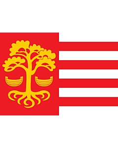Drapeau: Loksa | Loksa lipp |  drapeau paysage | 1.35m² | 90x150cm
