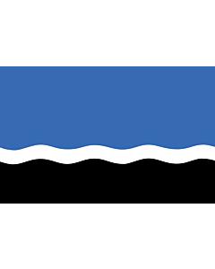 Drapeau: Mustvee | Mustvee lipp |  drapeau paysage | 1.35m² | 90x150cm