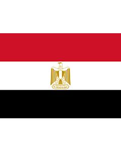 Flag: Egypt |  landscape flag | 0.7m² | 7.5sqft | 70x100cm | 2x3ft