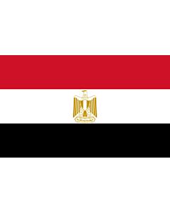 Flag: Egypt |  landscape flag | 1.35m² | 14.5sqft | 90x150cm | 3x5ft