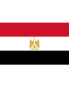 Flag: Egypt |  landscape flag | 3.75m² | 40sqft | 150x250cm | 5x8ft