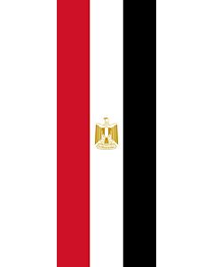 Flag: Egypt |  portrait flag | 6m² | 64sqft | 400x150cm | 13x5ft