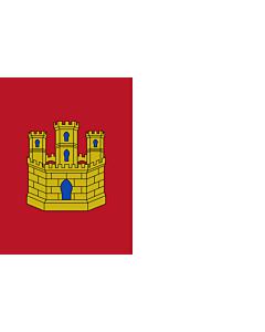 Flag: Castile-La Mancha |  landscape flag | 0.24m² | 2.5sqft | 40x60cm | 1.3x2foot