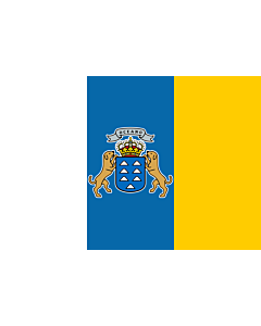 Flag: Canary Islands |  landscape flag | 0.24m² | 2.5sqft | 40x60cm | 1.3x2foot