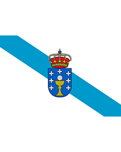 Flag: Galicia |  landscape flag | 0.24m² | 2.5sqft | 40x60cm | 1.3x2foot