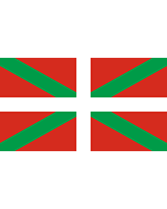 Flag: Basque Country |  landscape flag | 0.24m² | 2.5sqft | 40x60cm | 1.3x2foot