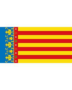 Flag: Valencian Community |  landscape flag | 0.24m² | 2.5sqft | 35x70cm | 15x30inch