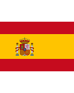 Flag: Spain |  landscape flag | 1.35m² | 14.5sqft | 90x150cm | 3x5ft