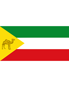 Drapeau: Somali Region | Regione di Somali, Etiopia | Retió Somali, Etiòpia |  drapeau paysage | 1.35m² | 80x160cm