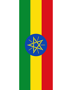 Vertical Hanging Swivel Crossbar Banner Flag: Ethiopia |  portrait flag | 6m² | 64sqft | 400x150cm | 13x5ft