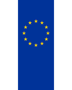 Vertical Hanging Beam Flag: Europe |  portrait flag | 3.5m² | 38sqft | 300x120cm | 10x4ft