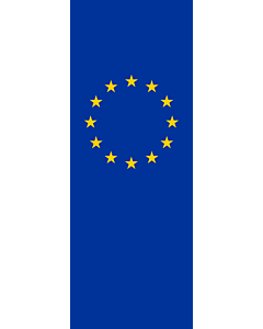 Vertical Hanging Beam Flag: Europe |  portrait flag | 6m² | 64sqft | 400x150cm | 13x5ft