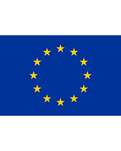 Flag: Europe |  landscape flag | 1.35m² | 14.5sqft | 90x150cm | 3x5ft