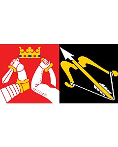 Flag: Eastern Finland |  landscape flag | 3.75m² | 40sqft | 140x280cm | 55x110inch