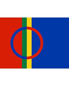 Flag: Lapland |  landscape flag | 0.24m² | 2.5sqft | 40x55cm | 17x20inch