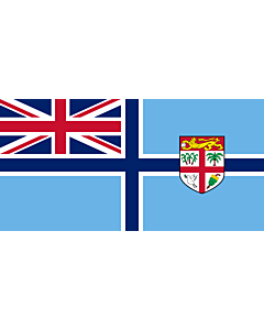 Flag: Civil Air Ensign of Fiji |  landscape flag | 1.35m² | 14.5sqft | 80x160cm | 30x60inch