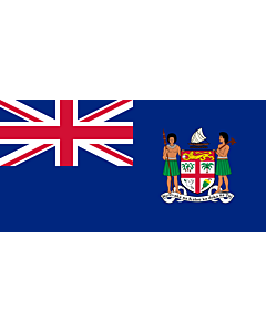 Flag: Fiji from 1924 to 1970 |  landscape flag | 1.35m² | 14.5sqft | 80x160cm | 30x60inch