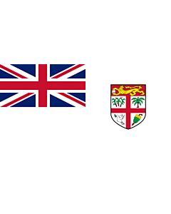 Bandera: Naval Ensign of Fiji |  bandera paisaje | 2.16m² | 100x200cm