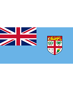 Bandera: Fiyi |  bandera paisaje | 3.75m² | 140x280cm