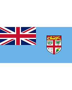 Bandera: Fiyi |  bandera paisaje | 6m² | 170x340cm