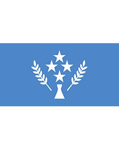 Flag: Kosrae |  landscape flag | 3.75m² | 40sqft | 140x270cm | 55x100inch