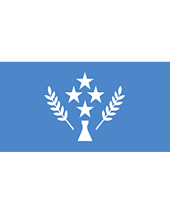 Flag: Kosrae |  landscape flag | 6.7m² | 72sqft | 190x360cm | 75x140inch