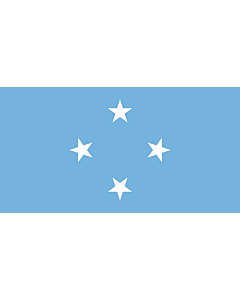 Flag: Micronesia |  landscape flag | 0.24m² | 2.5sqft | 40x60cm | 1.3x2foot