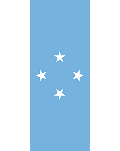 Vertical Hanging Swivel Crossbar Banner Flag: Micronesia |  portrait flag | 3.5m² | 38sqft | 300x120cm | 10x4ft