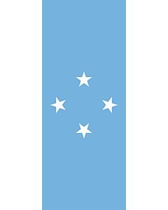 Banner-Flagge:  Mikronesien  |  Hochformat Fahne | 3.5m² | 300x120cm
