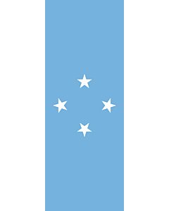 Vertical Hanging Swivel Crossbar Banner Flag: Micronesia |  portrait flag | 6m² | 64sqft | 400x150cm | 13x5ft
