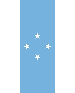 Banner-Flagge:  Mikronesien  |  Hochformat Fahne | 6m² | 400x150cm