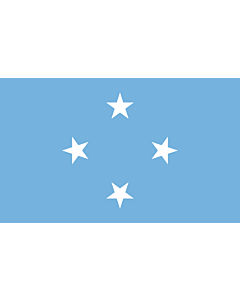 Table-Flag / Desk-Flag: Micronesia 15x25cm