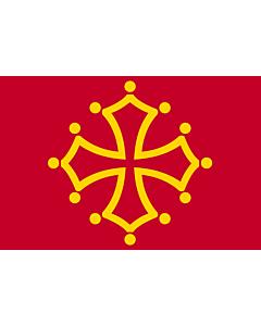 Flag: Midi-Pyrénées |  landscape flag | 0.24m² | 2.5sqft | 40x60cm | 1.3x2foot