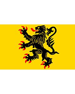 Flag: Nord-Pas-de-Calais |  landscape flag | 6.7m² | 72sqft | 200x335cm | 6x11ft