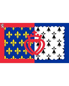 Flag: Pays de la Loire |  landscape flag | 6.7m² | 72sqft | 200x335cm | 6x11ft