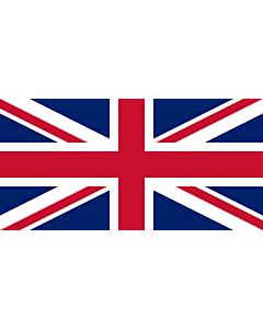 Flag: United Kingdom |  landscape flag | 3.75m² | 40sqft | 140x280cm | 55x110inch