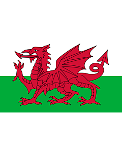 Table-Flag / Desk-Flag: Wales 15x25cm