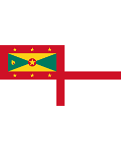 Flag: Naval Ensign of Grenada |  landscape flag | 2.16m² | 23sqft | 100x200cm | 40x80inch