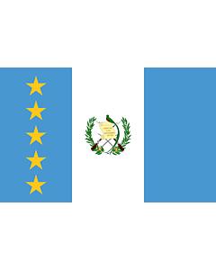 Flagge: XL President of Guatemala | En President of Guatemala standard | Estandarte del presidente de Guatemala  |  Querformat Fahne | 2.16m² | 120x180cm