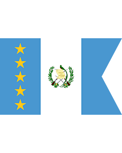 Flag: Vice-President of Guatemala | Vice-presidential flag of Guatemala |  landscape flag | 0.06m² | 0.65sqft | 20x30cm | 8x12in