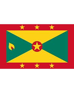 Flagge: Medium Grenada  |  Querformat Fahne | 0.96m² | 80x120cm