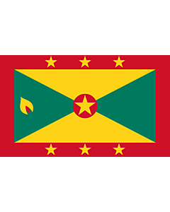 Flagge: XL+ Grenada  |  Querformat Fahne | 2.4m² | 120x200cm