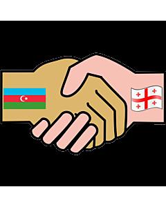 Flag: Georgia&Azerbaijan |  1.35m² | 14.5sqft | 120x120cm | 45x45inch