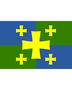 Bandera: Kutaisi, Georgia | Флаг города Кутаиси, Грузия |  bandera paisaje | 1.35m² | 90x150cm