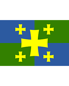 Drapeau: Kutaisi, Georgia | Флаг города Кутаиси, Грузия |  drapeau paysage | 1.35m² | 90x150cm