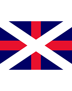 Flagge: Large Naval Ensign of Georgia  |  Querformat Fahne | 1.35m² | 90x150cm