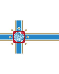 Flag: Tbilisi City Seal |  landscape flag | 1.35m² | 14.5sqft | 90x150cm | 3x5ft