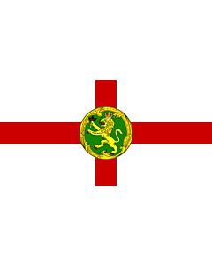 Flagge:  Alderney | Couleu de Aurni  |  Querformat Fahne | 0.06m² | 17x34cm